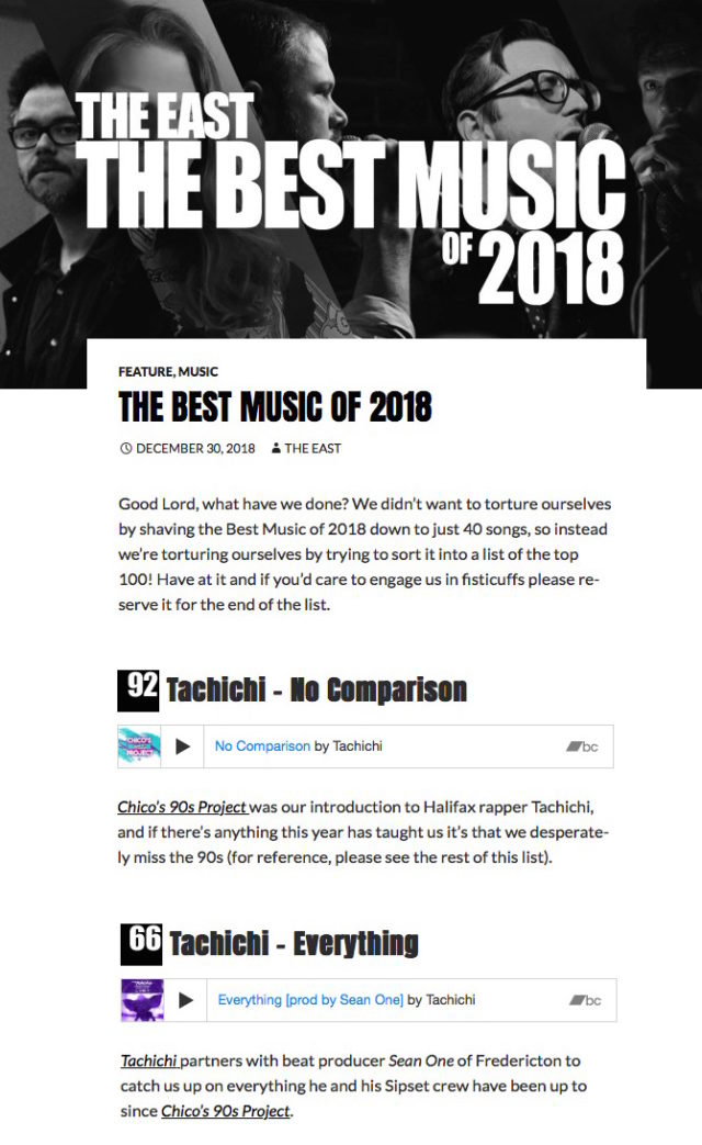 Hand'Solo Records » Blog Archive » The East picks 2 Tachichi