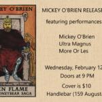 mickey-obrien-release-parties-in-toronto-sudbury